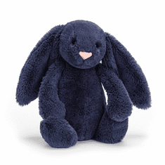 Jellycat Bashful Navy Bunny Medium Stuffed Toy