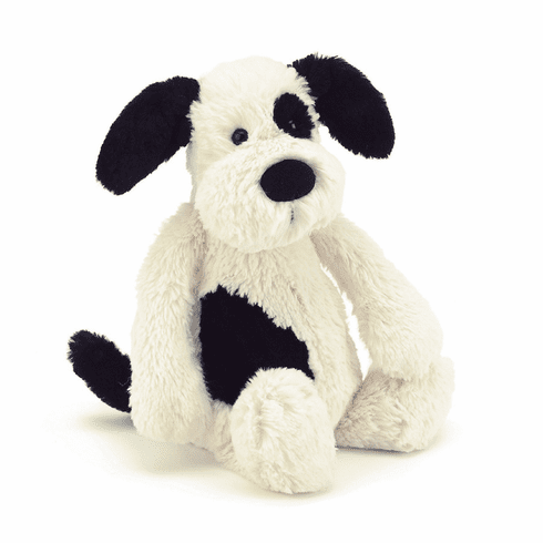Jellycat Bashful Puppy Black & Cream Large Plush Animal
