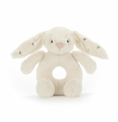 Jellycat Bashful Twinkle Bunny Ring Rattle