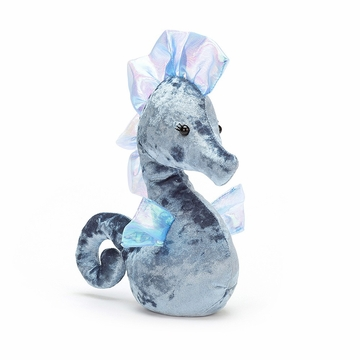 Jellycat Coral Cutie Blue Seahorse Stuffed Toy