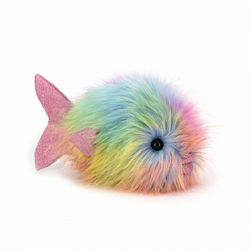 Jellycat Disco Fish Rainbow Stuffed Animal