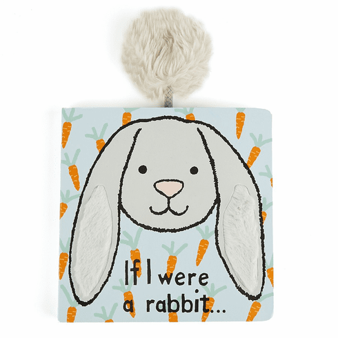 Jellycat If I Were a Rabbit (grey bunny) Book