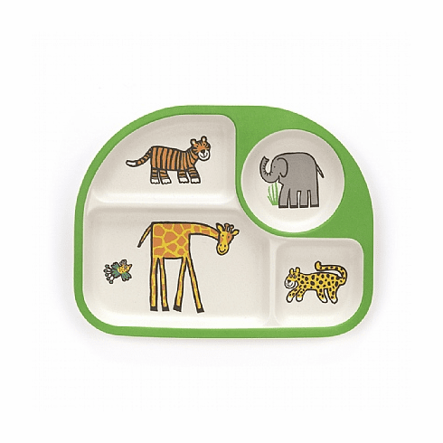 Jellycat Jungly Tails Bamboo Divided Plate
