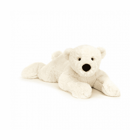Jellycat Perry Polar Bear Lying Stuffed Toy