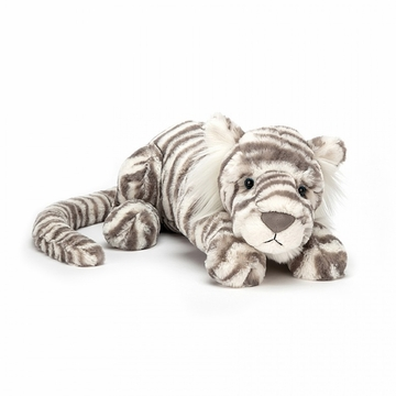 Jellycat Sacha Snow Tiger Little Stuffed Animal