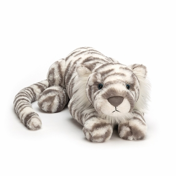 Jellycat Sacha Snow Tiger Medium Stuffed Toy