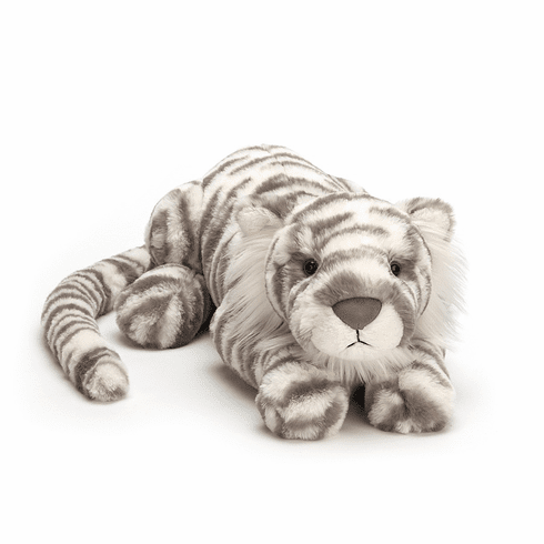 Jellycat Sacha Snow Tiger Really Big Stuffed Toy