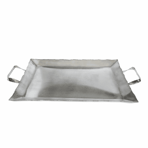 """Julia Knight Cascade 20"""" Tray with Handles Frosted"""