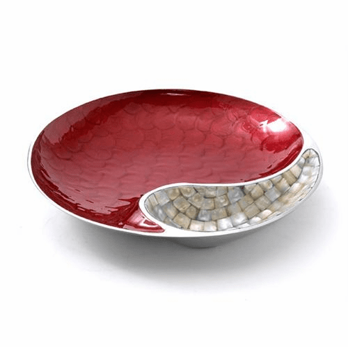 "Julia Knight Classic 13"" Yin Yang Bowl - Pomegranate"