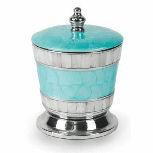 "Julia Knight Classic 5.5"" Covered Canister Aqua"
