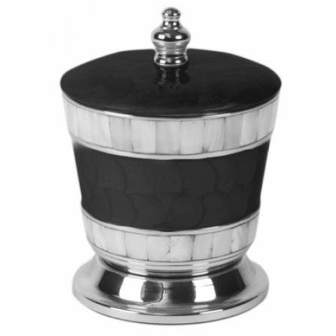 """Julia Knight Classic 5.5"""" Covered Canister Caviar"""