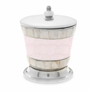 """Julia Knight Classic 5.5"""" Covered Canister Pink Ice"""