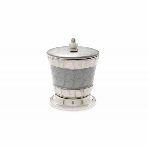 "Julia Knight Classic 5.5"" Covered Canister Platinum"