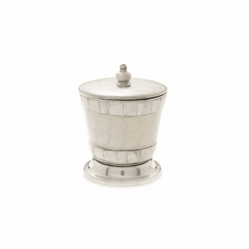 """Julia Knight Classic 5.5"""" Covered Canister Snow"""