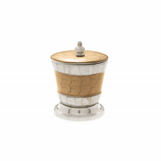 """Julia Knight Classic 5.5"""" Covered Canister Toffee"""