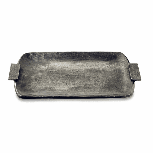 """Julia Knight Eclipse 21"""" Rectangular Tray with Handles Steel Blue"""