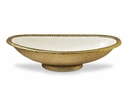"Julia Knight Florentine 24"" Oval Bowl Gold Snow"