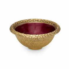 "Julia Knight Florentine 4.25"" Round Bowl Gold Pomegranate"