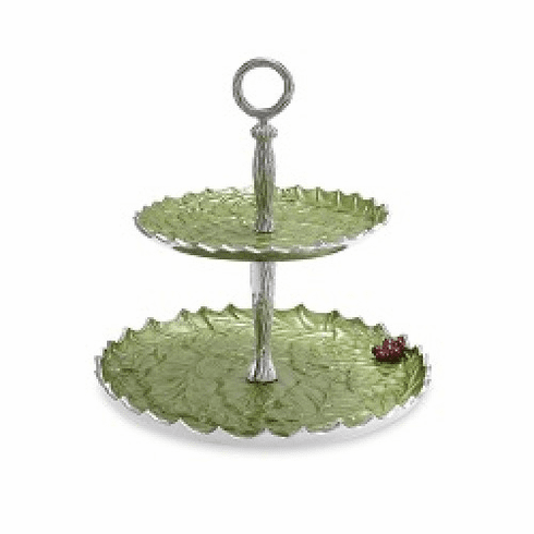 """Julia Knight Holly Sprig 11.5"""" Two-Tiered Server Mojito"""