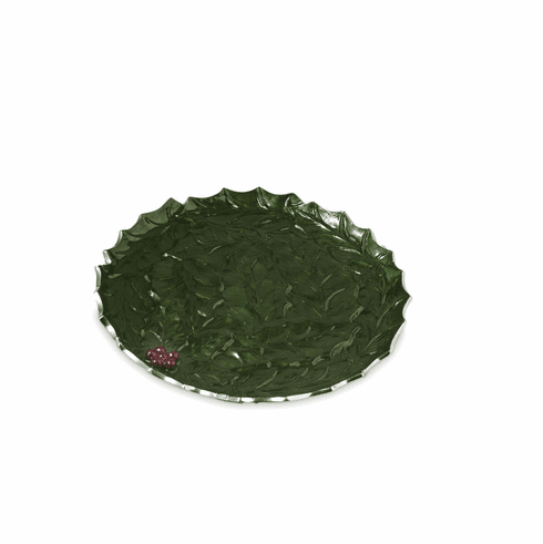 "Julia Knight Holly Sprig 13"" Round Platter Emerald"