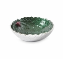 "Julia Knight Holly Sprig 8.5"" Round Bowl Emerald"