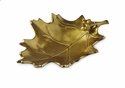 "Julia Knight Oak Leaf 15"" Bowl Gold"