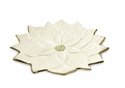 "Julia Knight Poinsettia 15"" Platter Gold Snow"