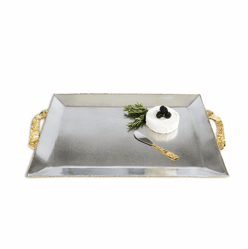 """Julia Knight Sierra 20"""" Rectangular Tray Frosted"""
