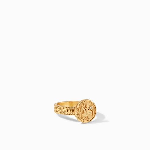 Julie Vos Coin Midi Ring - Size 8