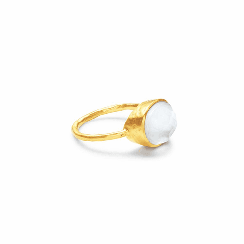 Julie Vos Honey Stacking Ring Iridescent Clear Crystal - Size 6