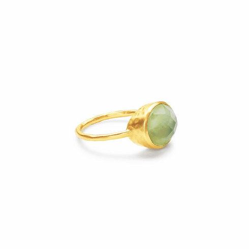 Julie Vos Honey Stacking Ring Iridescent Peridot Green - Size 7
