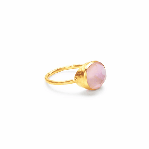 Julie Vos Honey Stacking Ring Iridescent Rose - Size 8