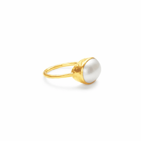 Julie Vos Honey Stacking Ring Pearl - Size 7
