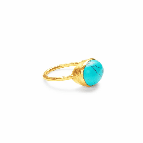 Julie Vos Honey Stacking Ring Turquoise Blue - Size 6