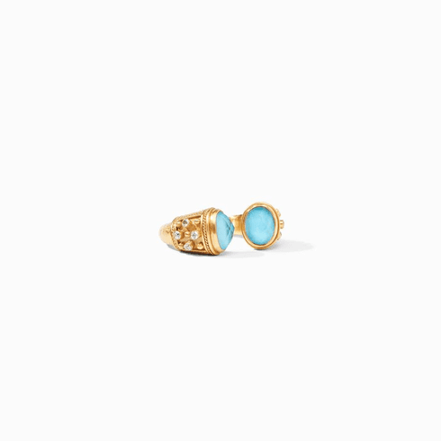 Julie Vos Paris Ring - Iridescent Pacific Blue