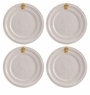 Juliska Acanthus Cocktail Plate Set or 4 - Whitewash and Gold