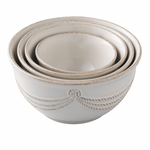 Juliska Berry and Thread Nesting Prep Bowl Set/4 Whitewash