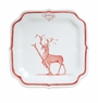 Juliska Country Estate Reindeer Games Ruby Party Plate Dasher