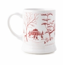 "Juliska Country Estate Winter Frolic ""Mr. & Mrs. Claus"" Ruby Mug"
