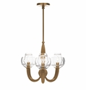 Juliska Dean Double Shade on Paris Chandelier in Brass