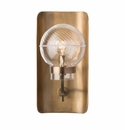 Juliska Graham Globe on Lisbon Sconce in Brass