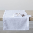 "Juliska Heirloom Linen White 96"" Runner"