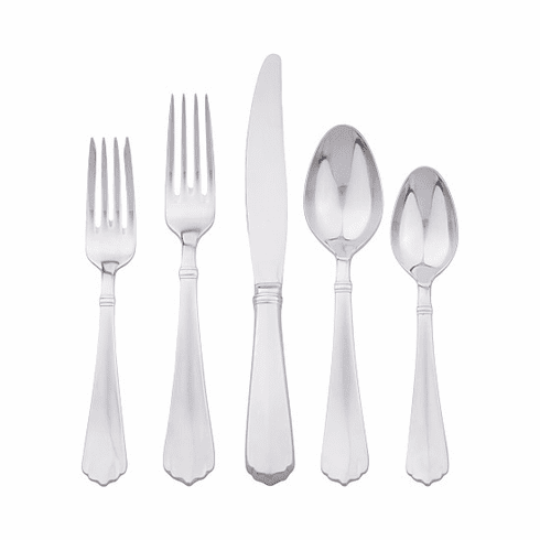 Juliska Kensington Flatware Bright Satin 5pc Setting