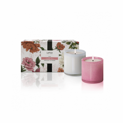 LAFCO 6.5oz Limited Edition Floral Candle Duo - Duchess Peony & Star Magnolia