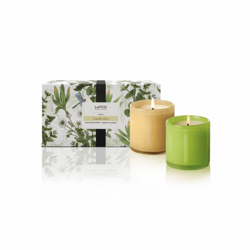 LAFCO 6.5oz Limited Edition Herbal Candle Duo - Chamomile Lavender & Rosemary