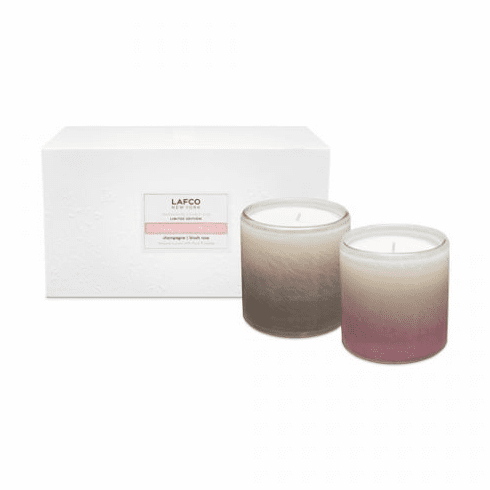 LAFCO Champagne and Roses 6.5oz Classic Candle Duo