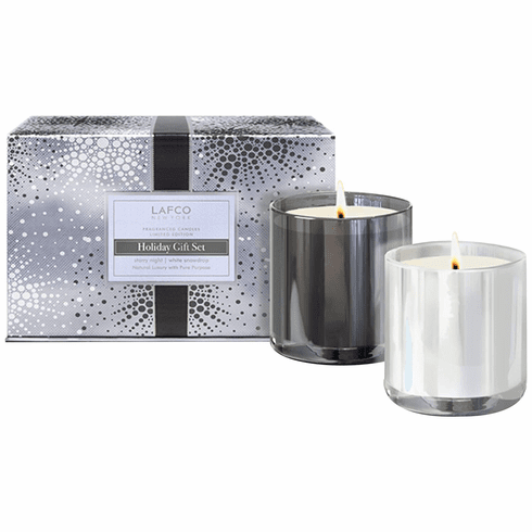 Lafco White Snowdrop / Starry Night LE 6.5oz Candle Gift Set