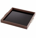 Large Chelsea Brown Wood Tray by Cyan Design