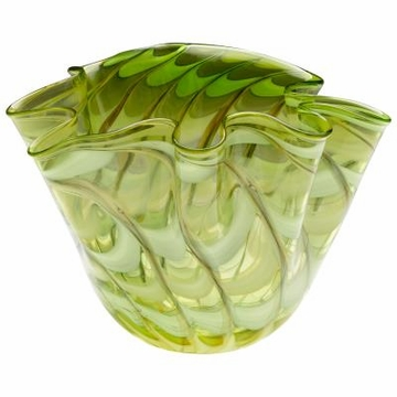 Large Francisco Green Art Glass Bowl by Cyan Design