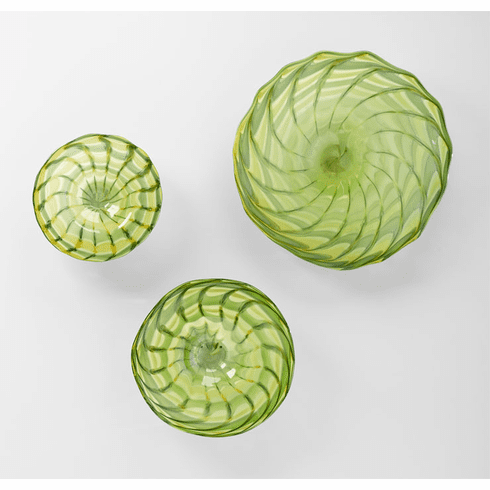 Large Francisco Green Art Glass Plate by Cyan Design (Small and Medium Plates Sold Separately)